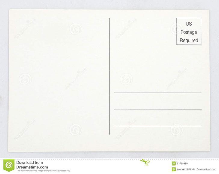 Standard Postcard Template Gallery - Template Design Ideas - free postcard template download