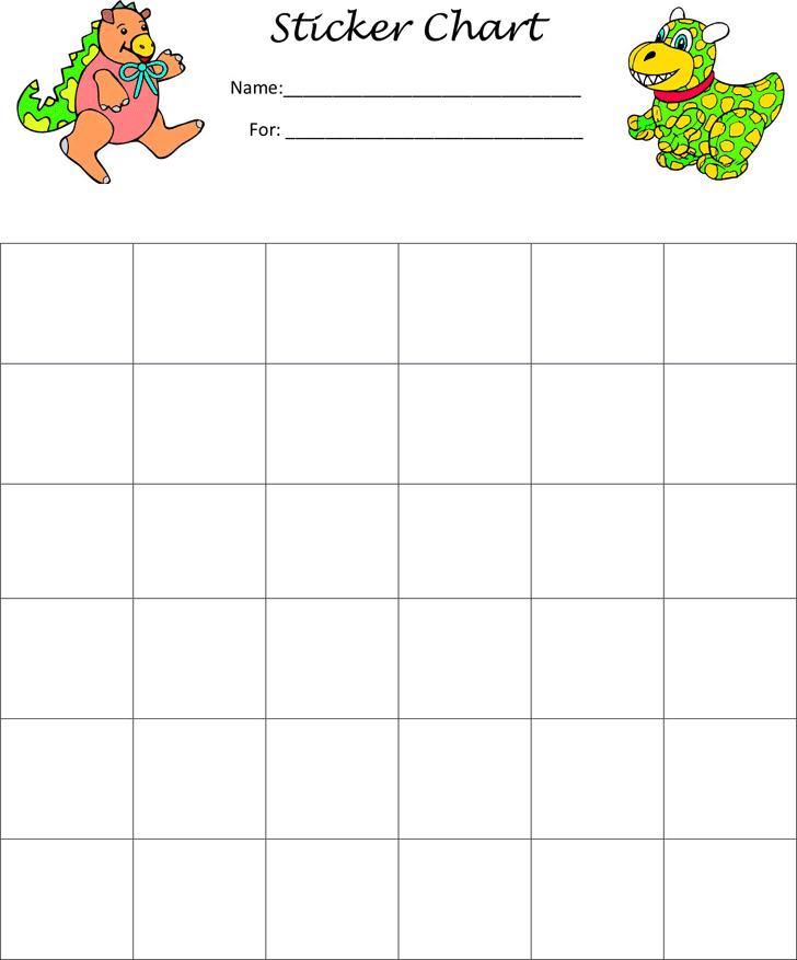 Sticker Charts Download Free  Premium Templates, Forms  Samples - sticker chart