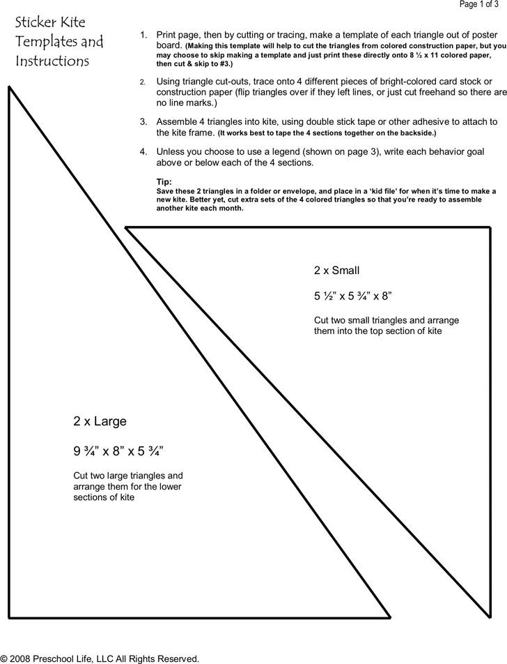 Kite Template Download Free  Premium Templates, Forms  Samples