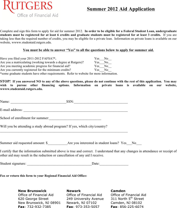 Students Loan Application Form Download Free  Premium Templates - students loan application form
