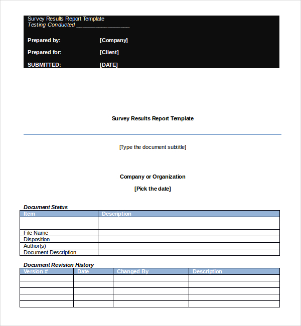 Survey Report Template  NodeCvresumePaasproviderCom