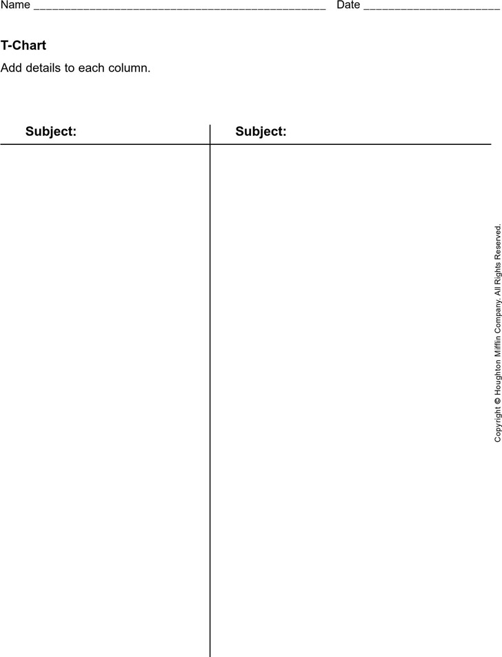 T Chart Template Download Free  Premium Templates, Forms - t chart template