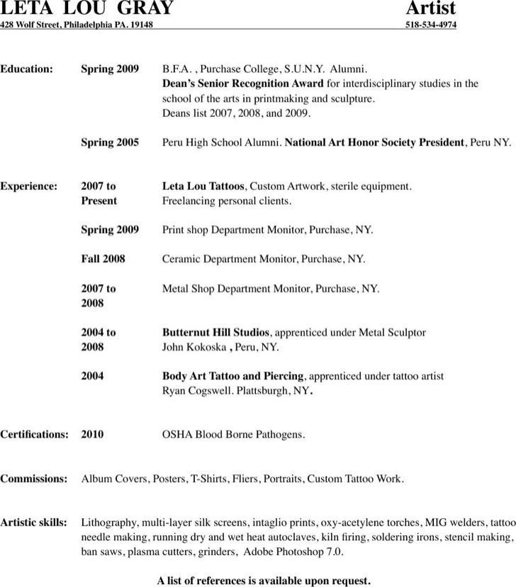 Art Resume Artist Resume Sample Writing Guide Resume Genius, Video