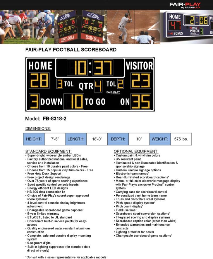 Football Scoreboard Template Download Free  Premium Templates