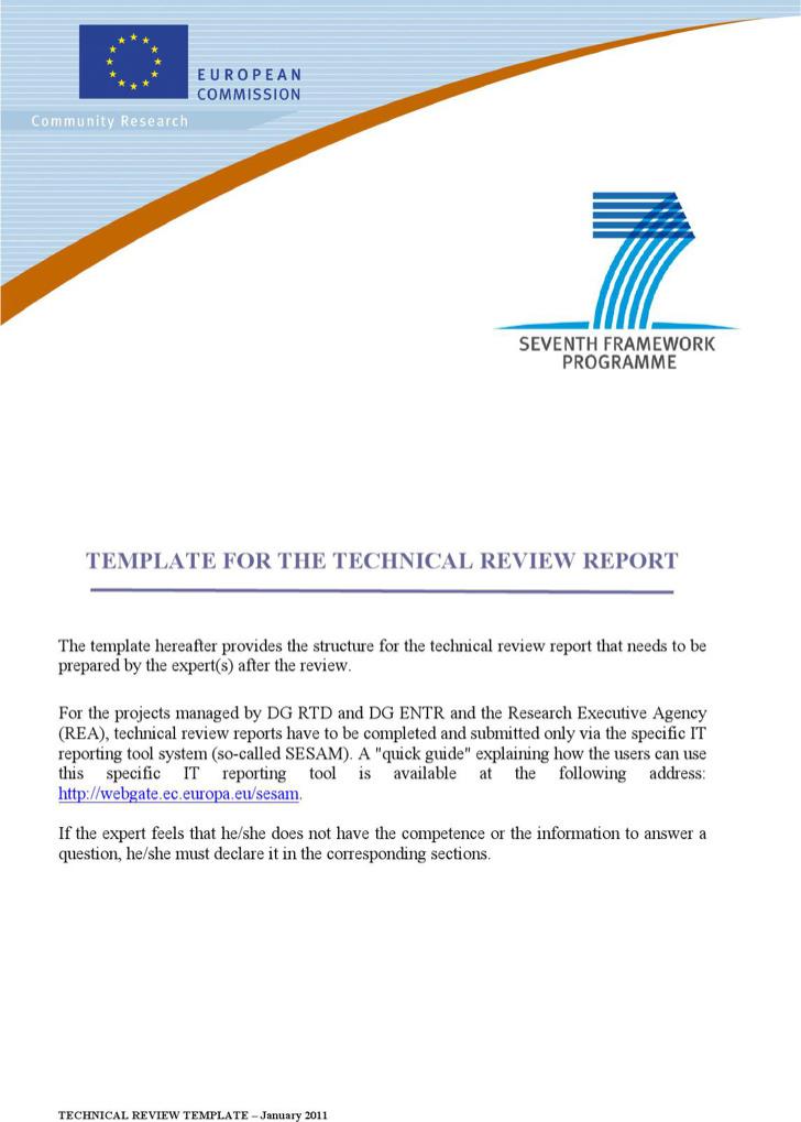 word technical report template - Josemulinohouse