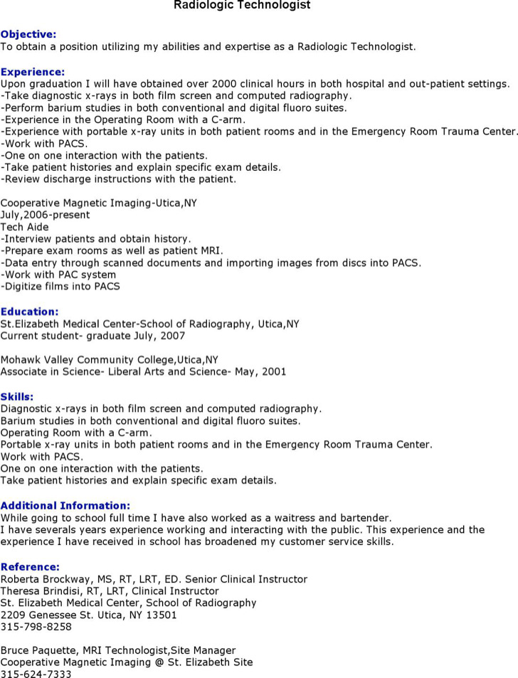 Radiologist Resume Templates Download Free  Premium Templates - radiologist resume
