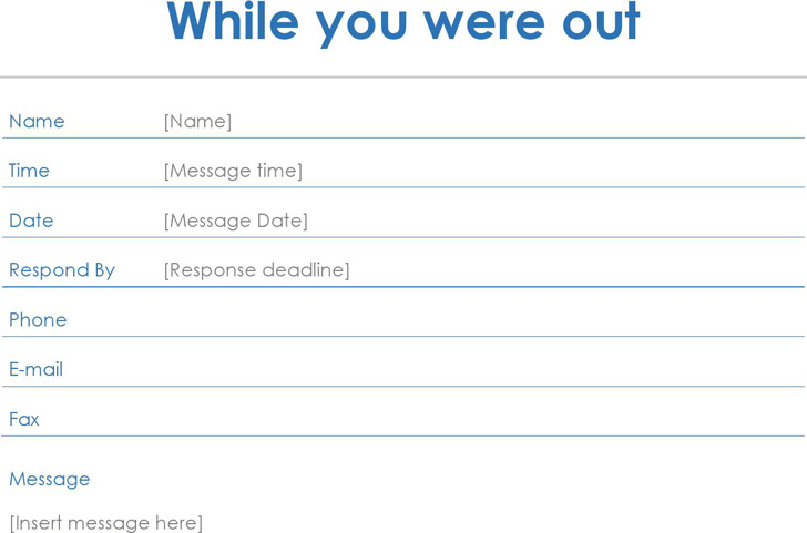 4+ Phone Message Template Free Download