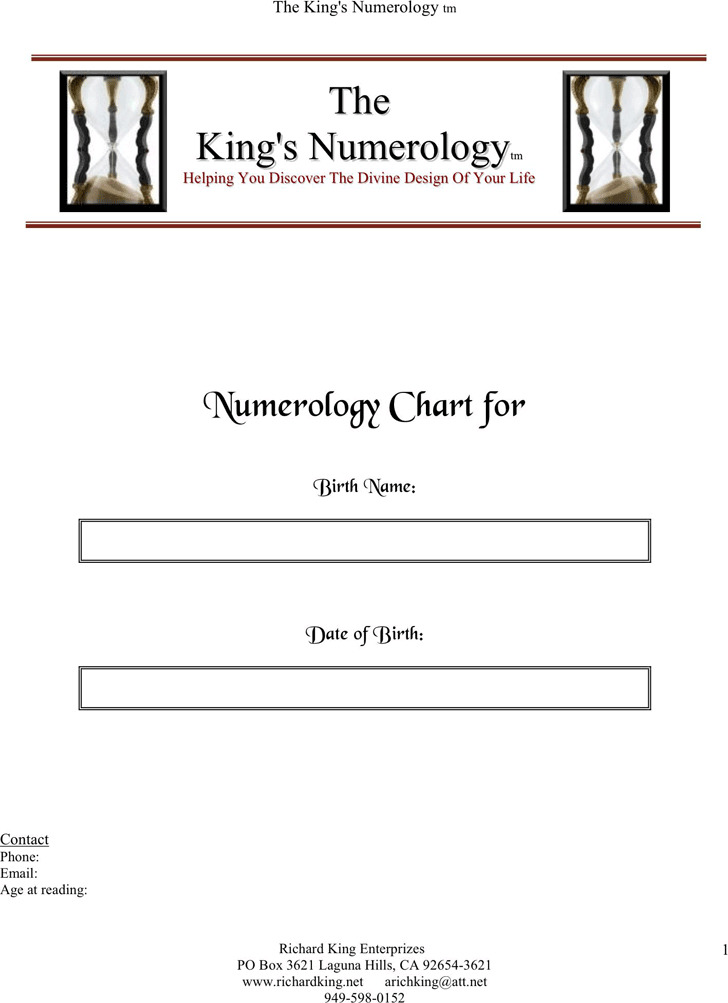 Numerology Chart Download Free  Premium Templates, Forms - numerology chart template