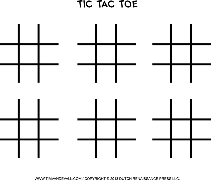 Tic Tac Toe Template Download Free  Premium Templates, Forms