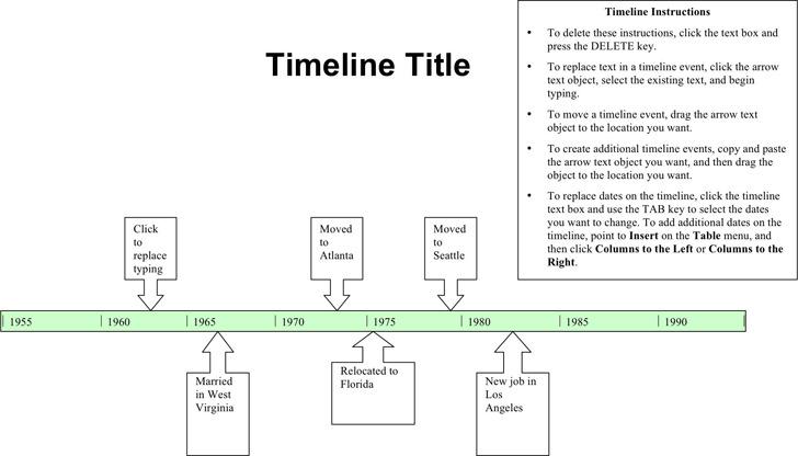 Simple Timeline Template Download Free \ Premium Templates - simple timeline template