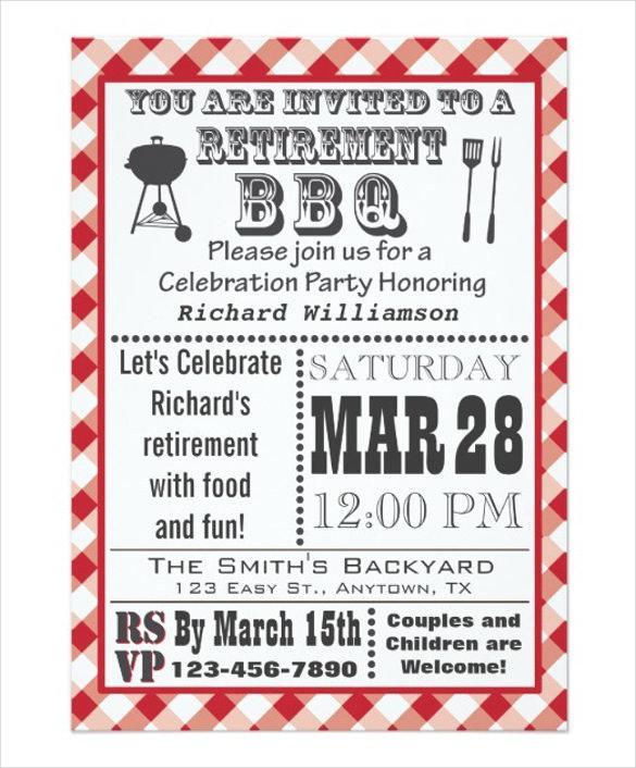 Retirement Party Invitation Templates Download Free \ Premium - retirement party flyer template
