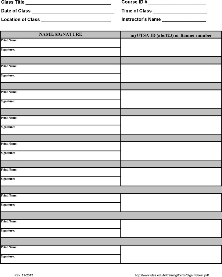 Training Sign in Sheet Download Free  Premium Templates, Forms - sample training sign in sheet
