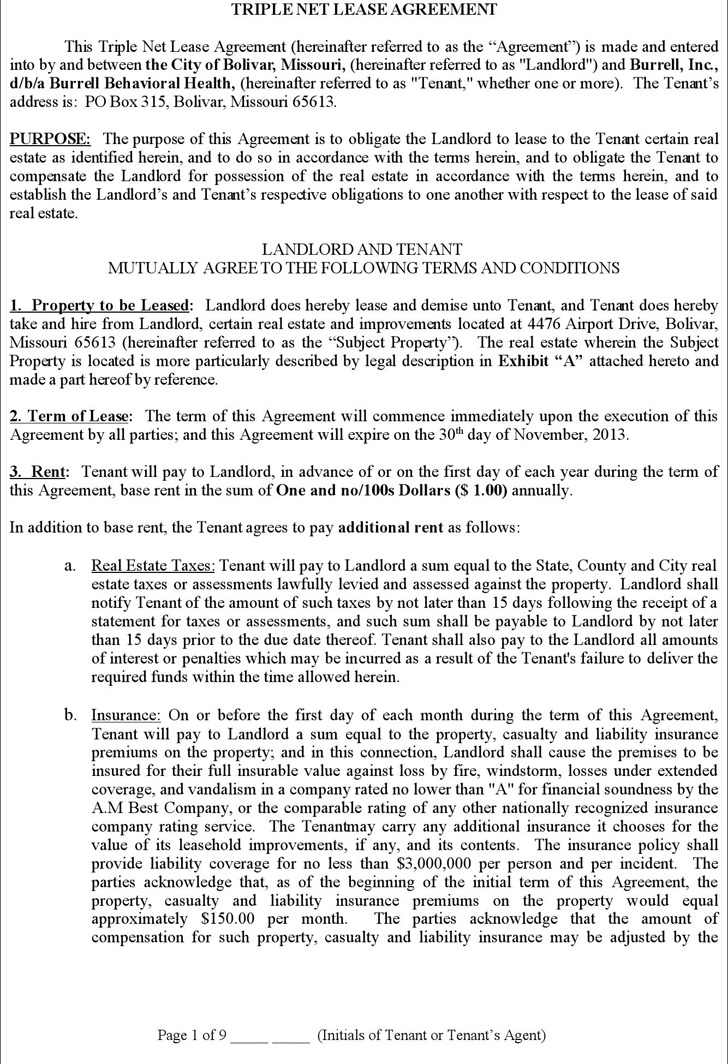 Net Lease Agreement Template Download Free  Premium Templates