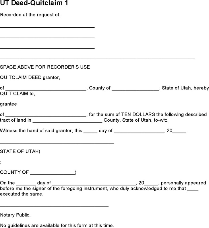 quick deed form spintel - quick claim deed