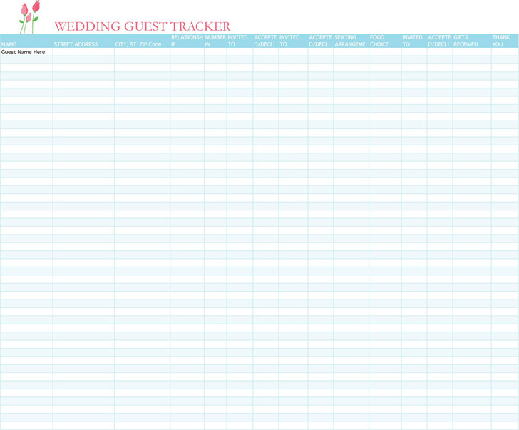 Wedding Guest List Template Download Free  Premium Templates - wedding guest list template