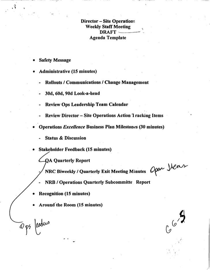 ... Staff Meeting Agenda Sample Office Staff Meeting 41+ Meeting   Draft Meeting  Agenda ...