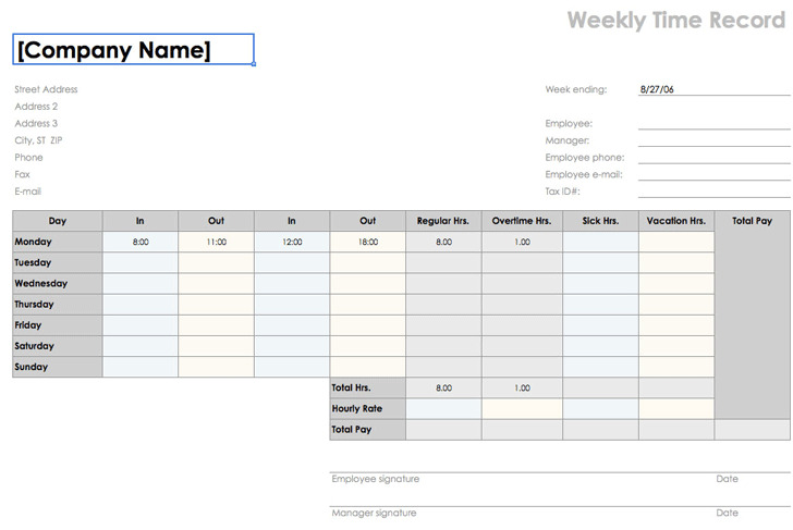 Sample Payroll Timesheet sample payroll timesheet 12+ bi weekly - sample payroll timesheet
