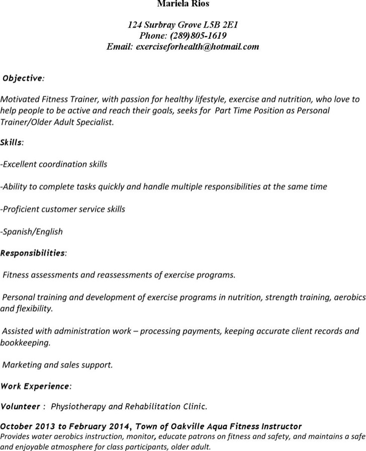personal trainer cover letter 8 best images of sports cover