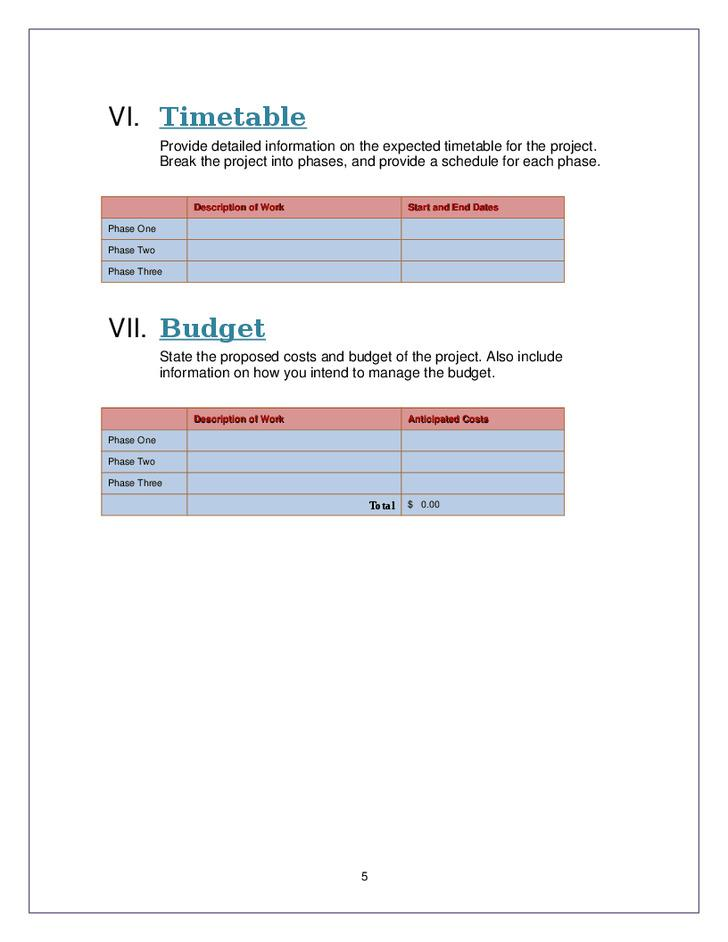 Free Proposal Template Word 28 free proposal templates microsoft – Proposal Template for Word