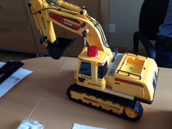 Babies Remote Toys Looking For Parts Of New Bright Power Horse Excavator