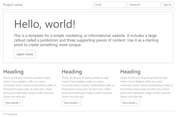 Bootstrap Wireframe Shapes Included Shapes PowerMockup