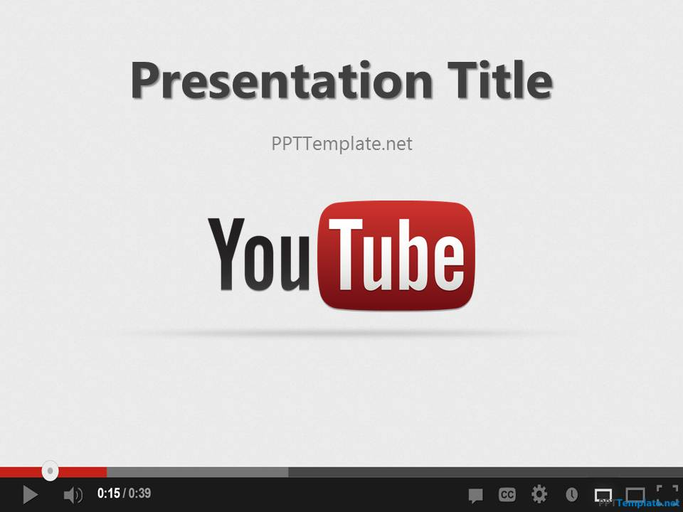 Free Youtube PPT Template - free slide backgrounds for powerpoint