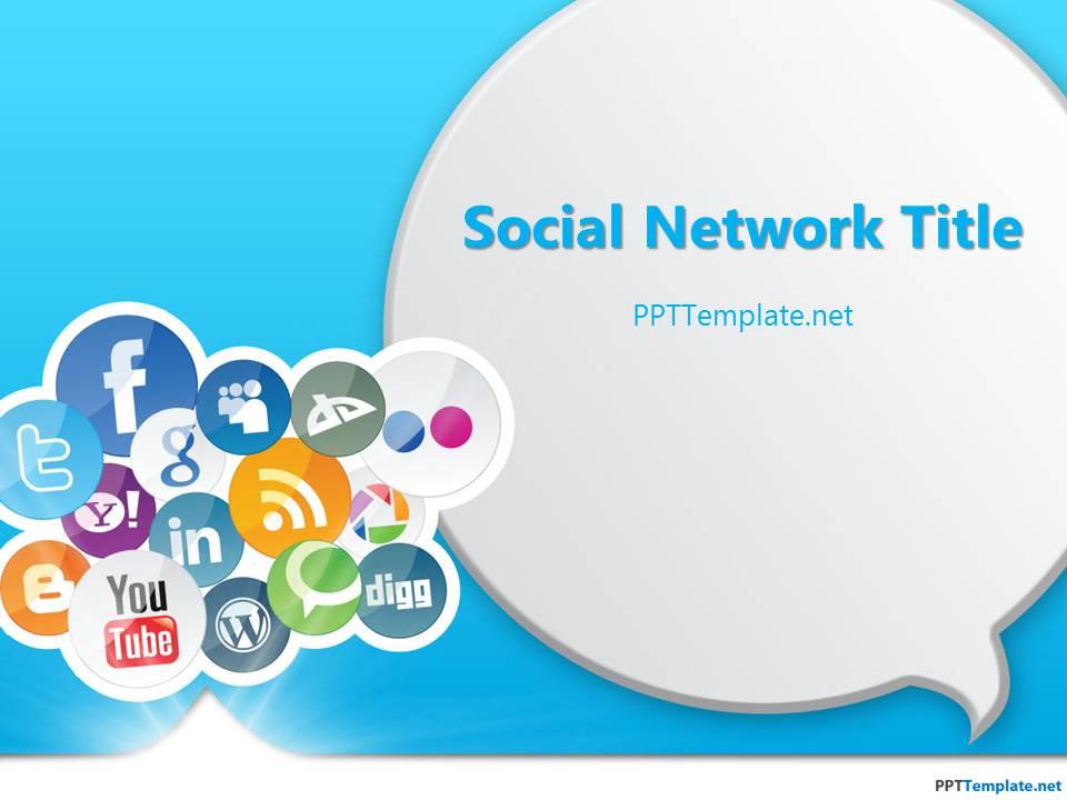 Free Social Media PPT Template