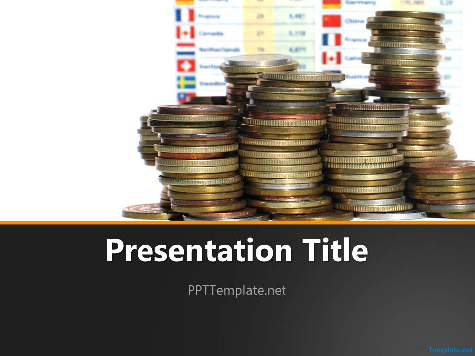 Free Investor PPT Template - money background for powerpoint