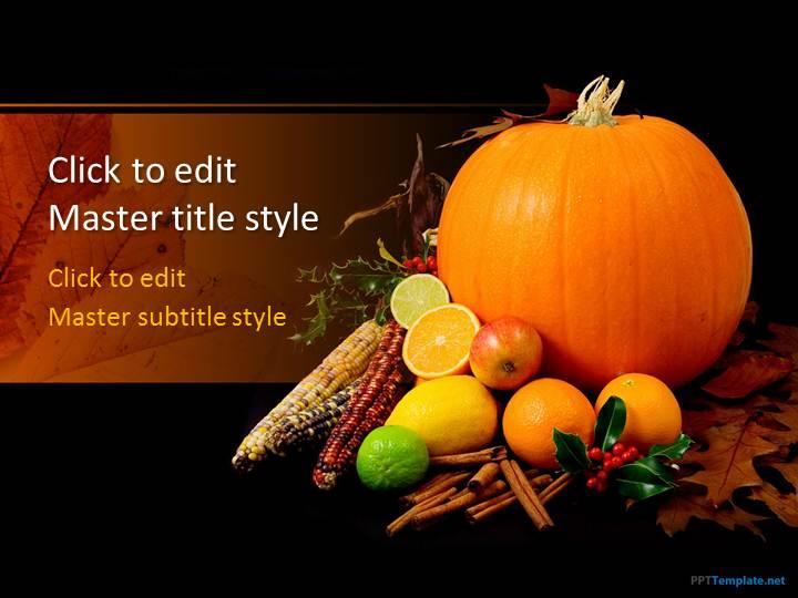 Free Pumpkin PPT Template