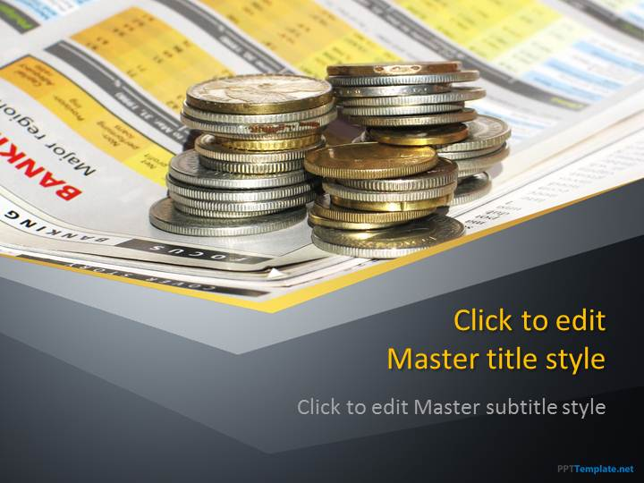 Free Finance Money PPT Template - money background for powerpoint