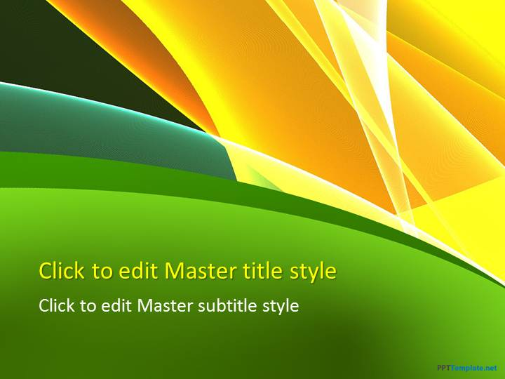 Free Yellow and Green PPT Template