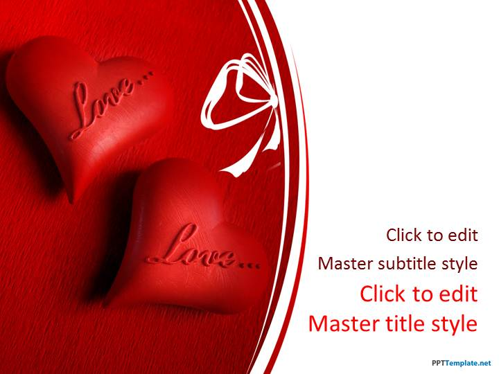 Free Love and Hearts PPT Template