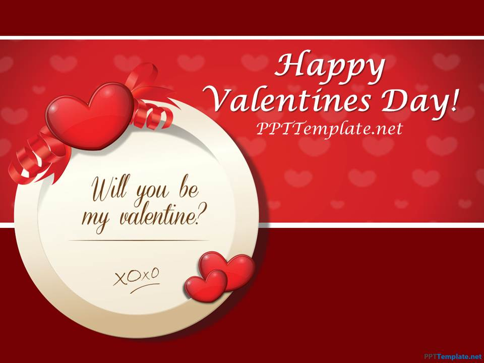 Free St Valentine\u0027s Day PPT Template