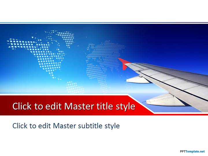Free Plane PPT Template - office powerpoint template
