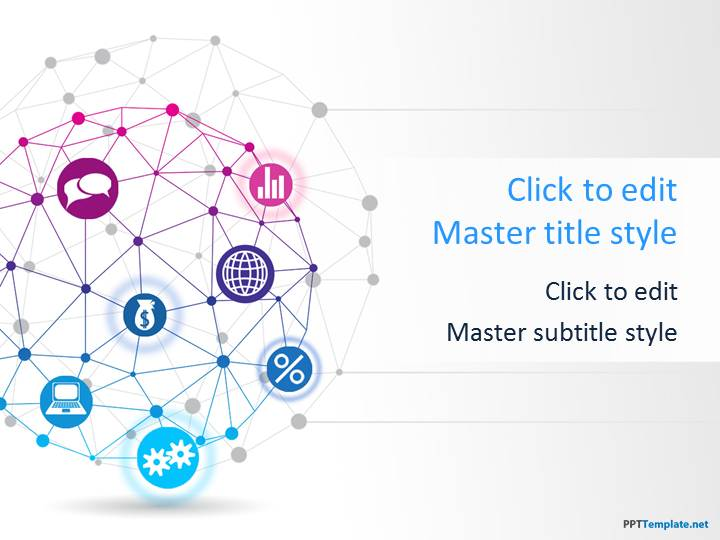 Free Global Network PPT Template - global powerpoint template