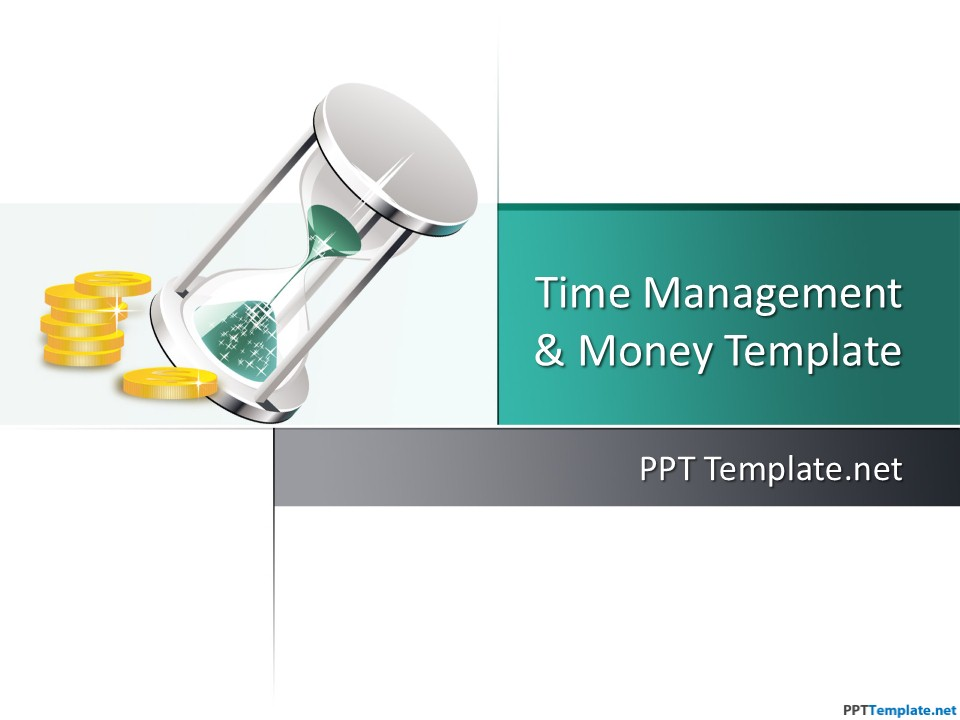 Free Time Money PPT Template - money background for powerpoint