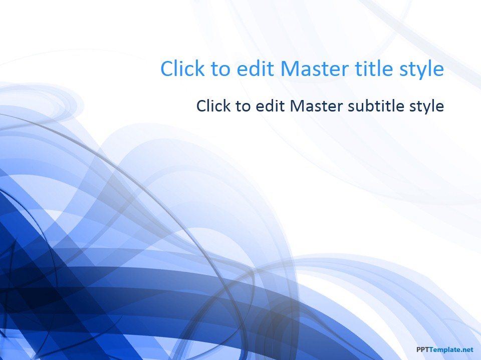 Free Blue Spiral PPT Template