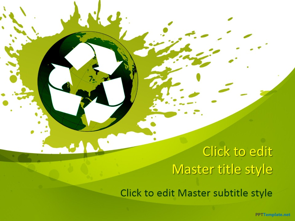 Free Recycle PPT Template - recycling powerpoint templates