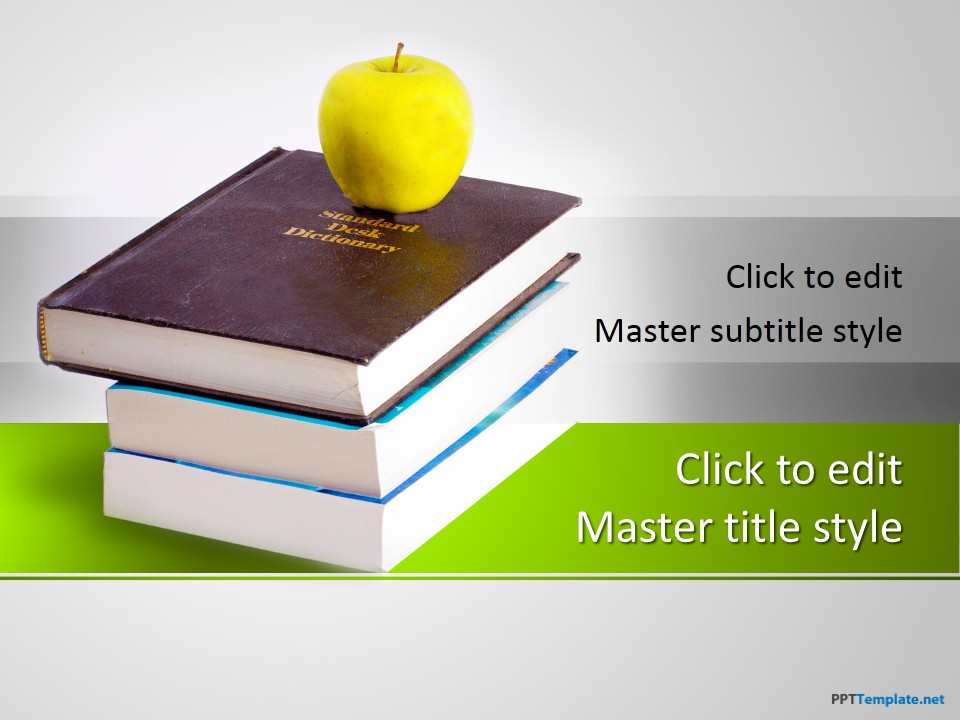 Free Literature Books PPT Template - powerpoint books