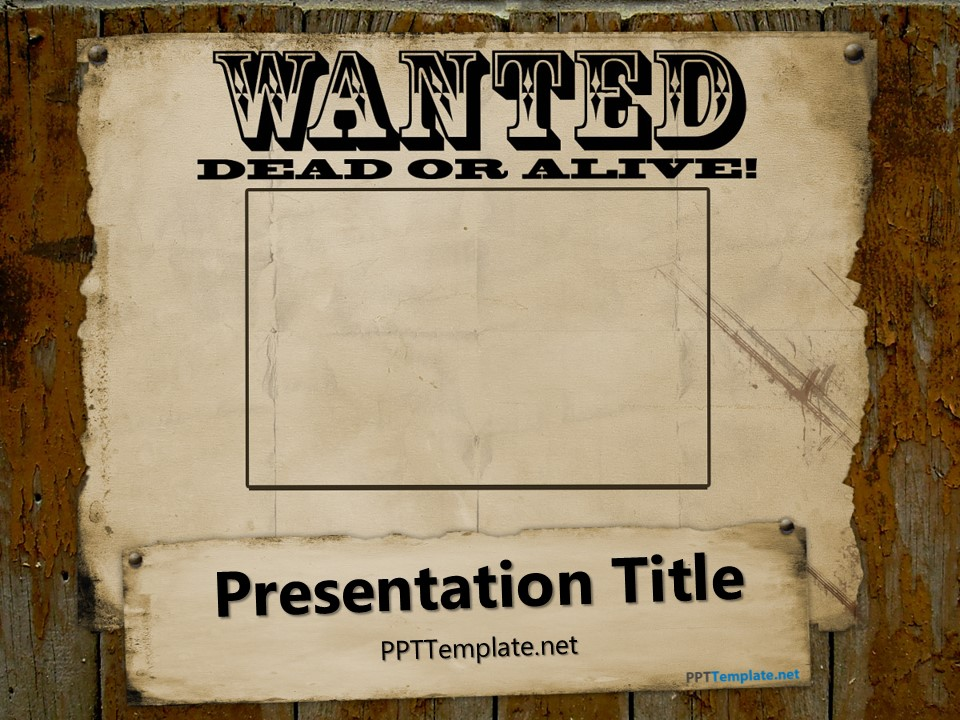 Most Wanted Template Free Free Printable Wanted Poster Template