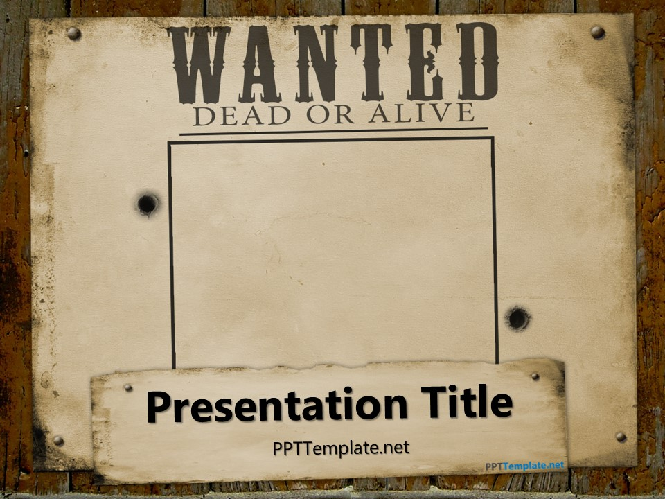 Free Wanted Template for PowerPoint