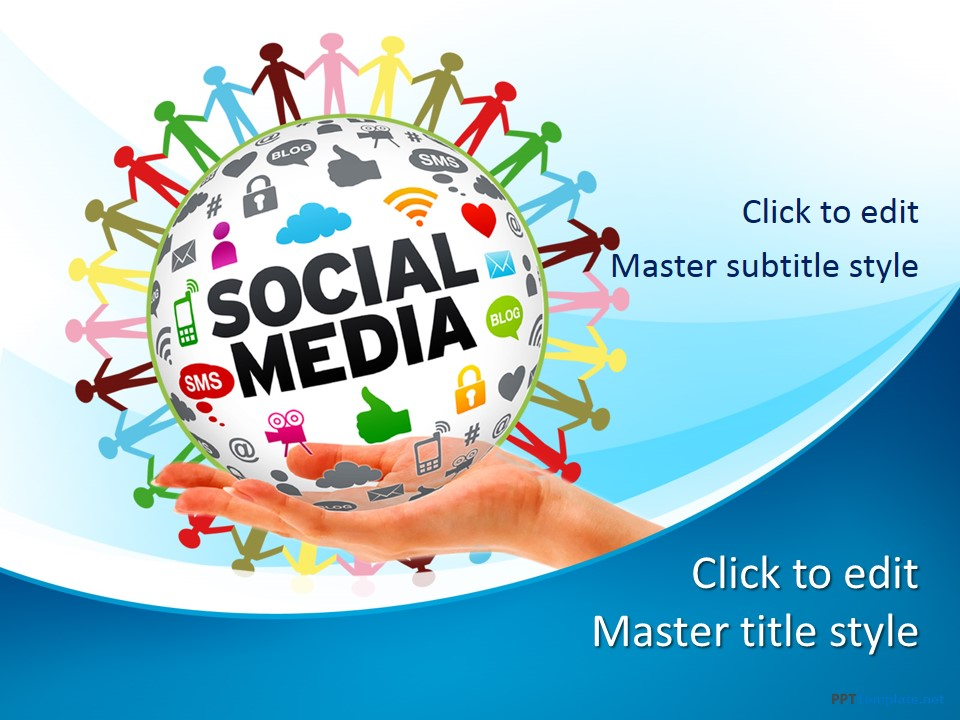 Free Social Media Network PPT Template