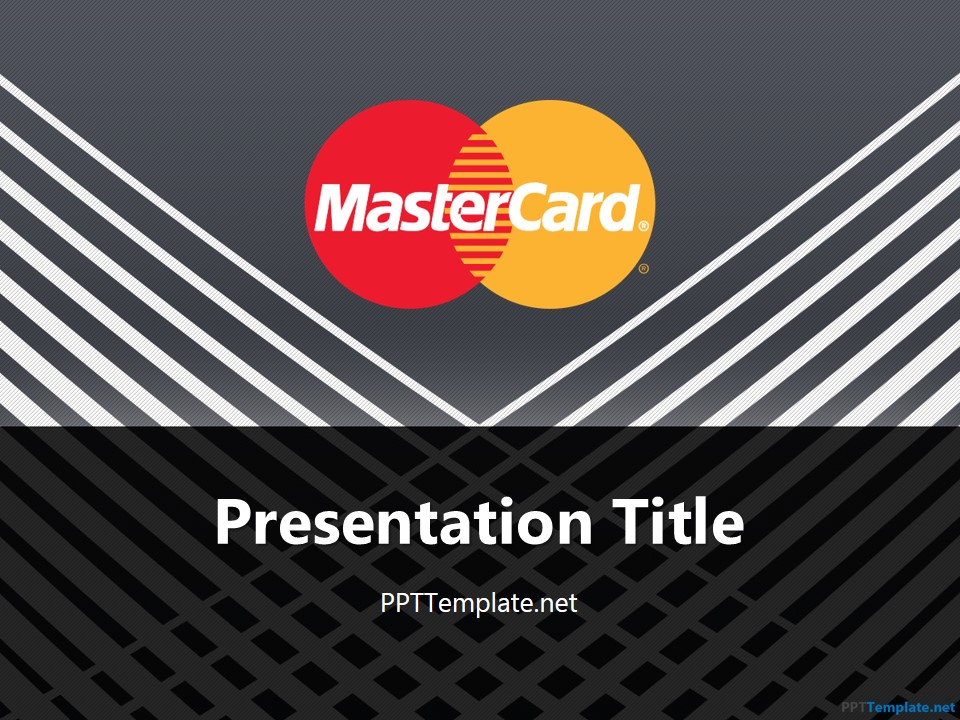 Free MasterCard With Logo PPT Template - free powerpoint graphics templates