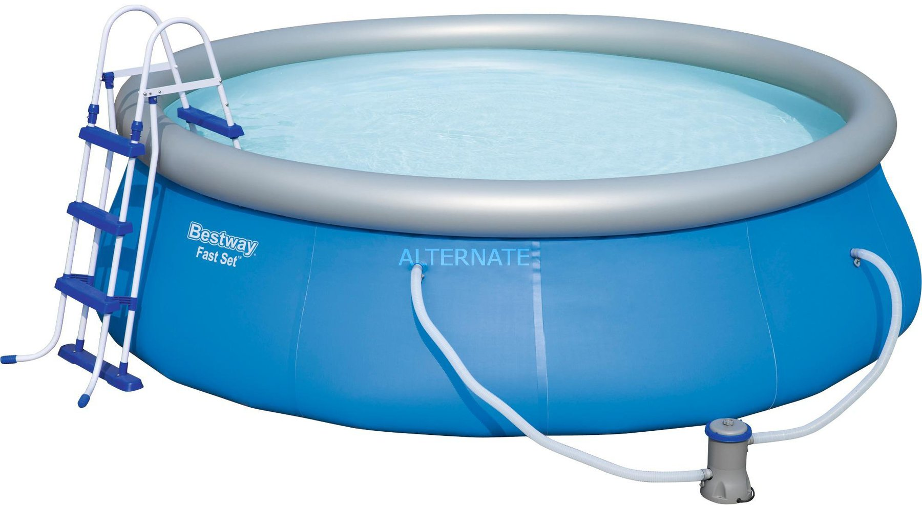 Pool Komplettset Amazon Bestway Fast Set Pool 366 X 91 Cm