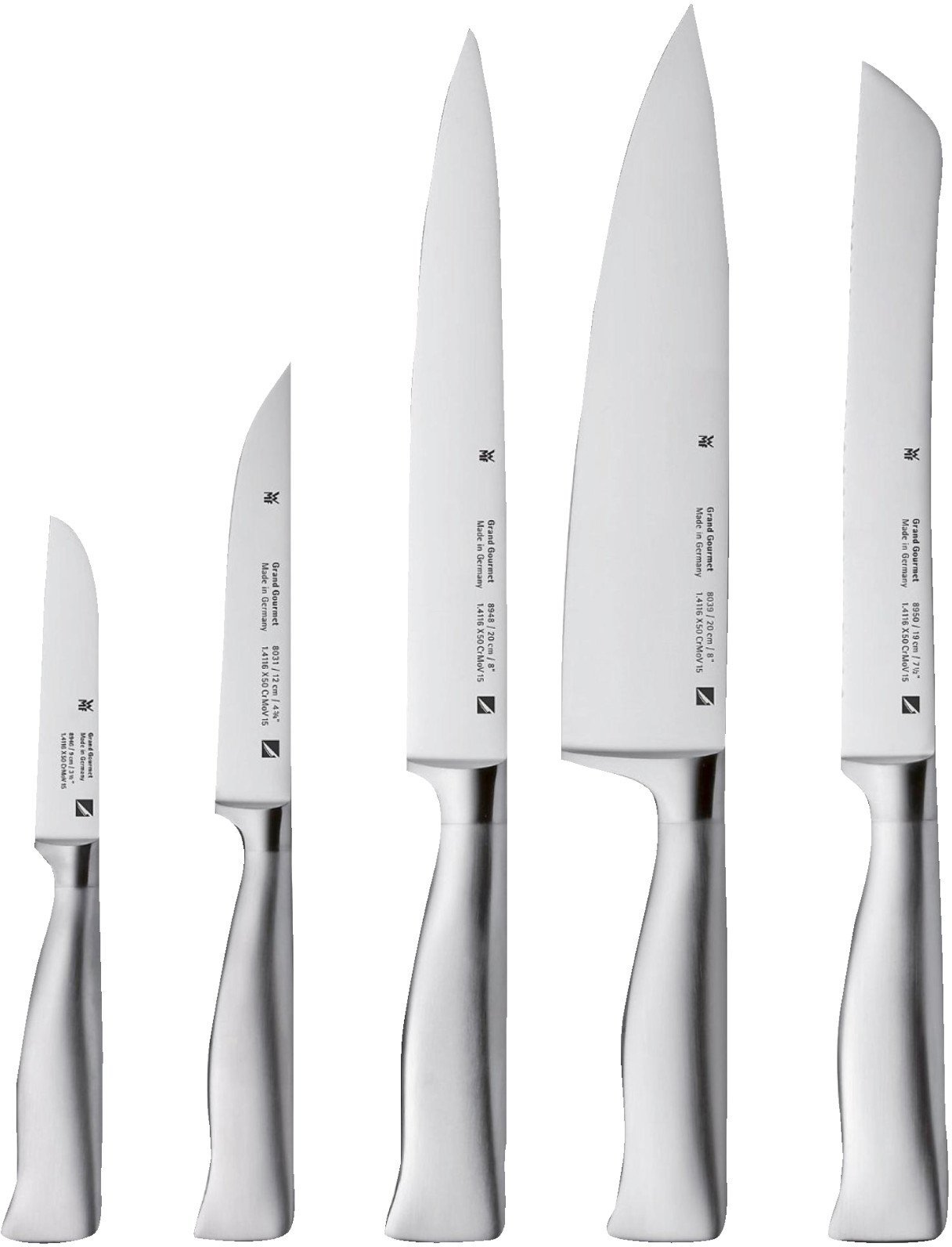 Zwilling Messerblock Twin Chef 8-teilig Wmf Grand Gourmet Messerset 5 Tlg