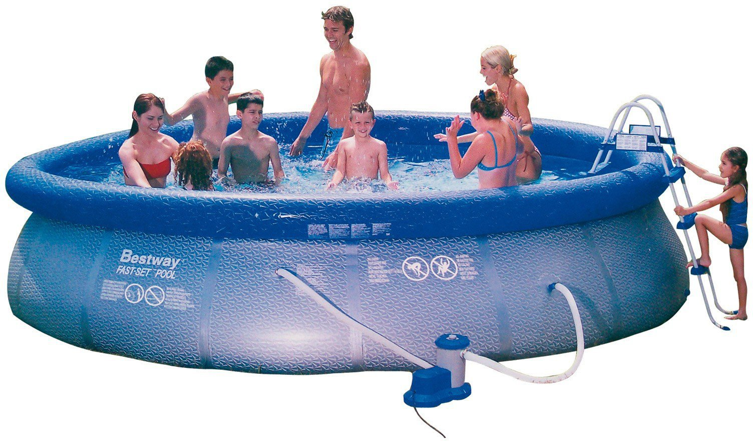 Pool Komplettset Amazon Bestway Fast Set Pool 457 X 107 Cm