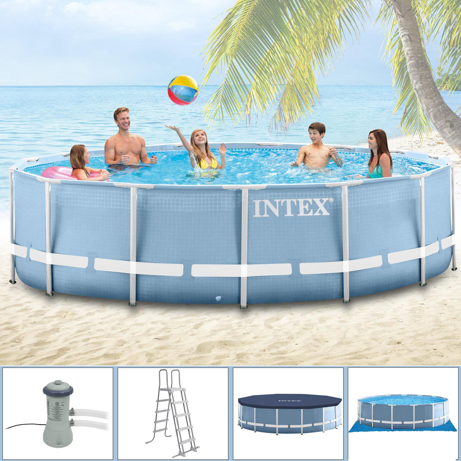 Abdeckplane Pool 200 X 150 Intex Pools Steel Frame Pool 366 X 122 Cm Ohne Zubehör 28904