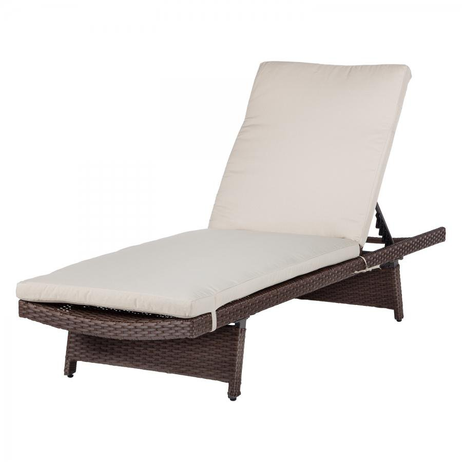Loungemobel Rattan Amazon Beige Optik Rattan Gartenliege