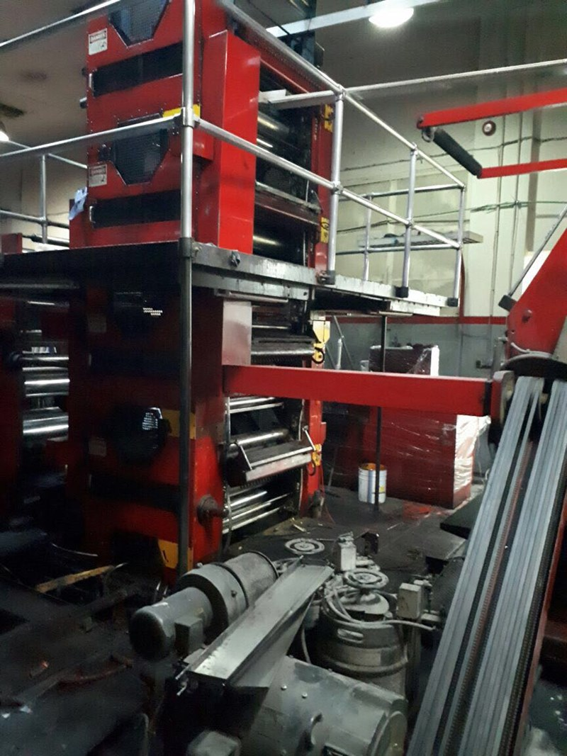 Web Offset Printing Machine Tensor Two Tower Web Offset Press Line 4 Color Double Side