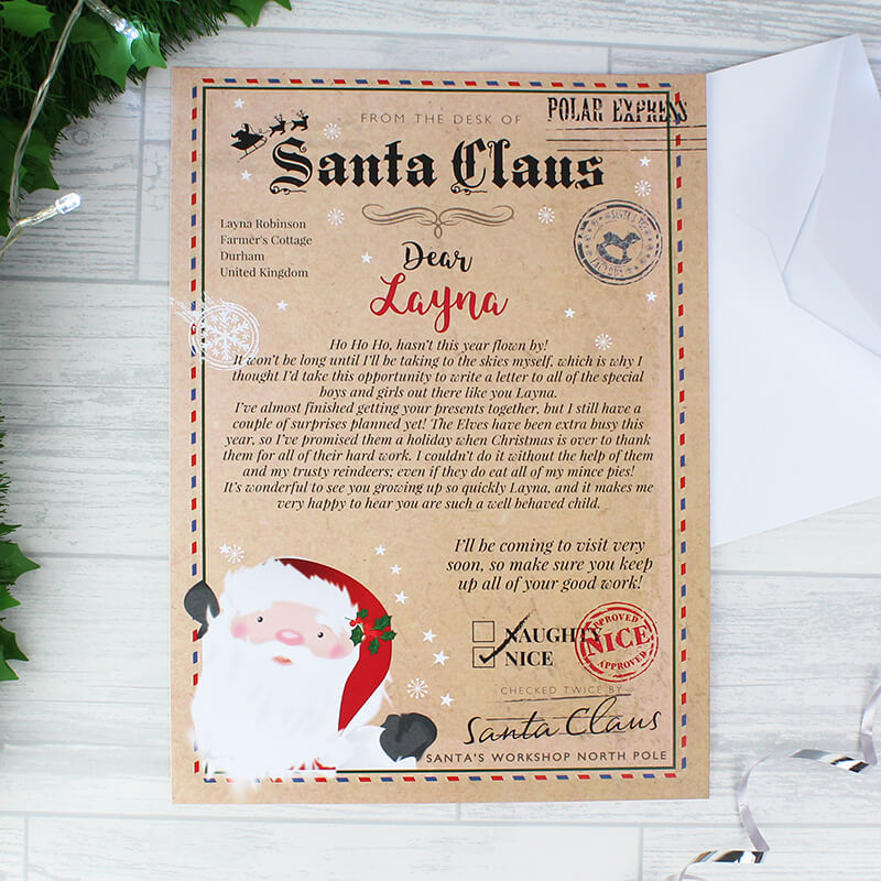 Personalised Santa Claus Letter - Buy from Prezzybox